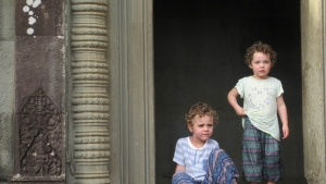 Ned and Olive at Angkor Wat