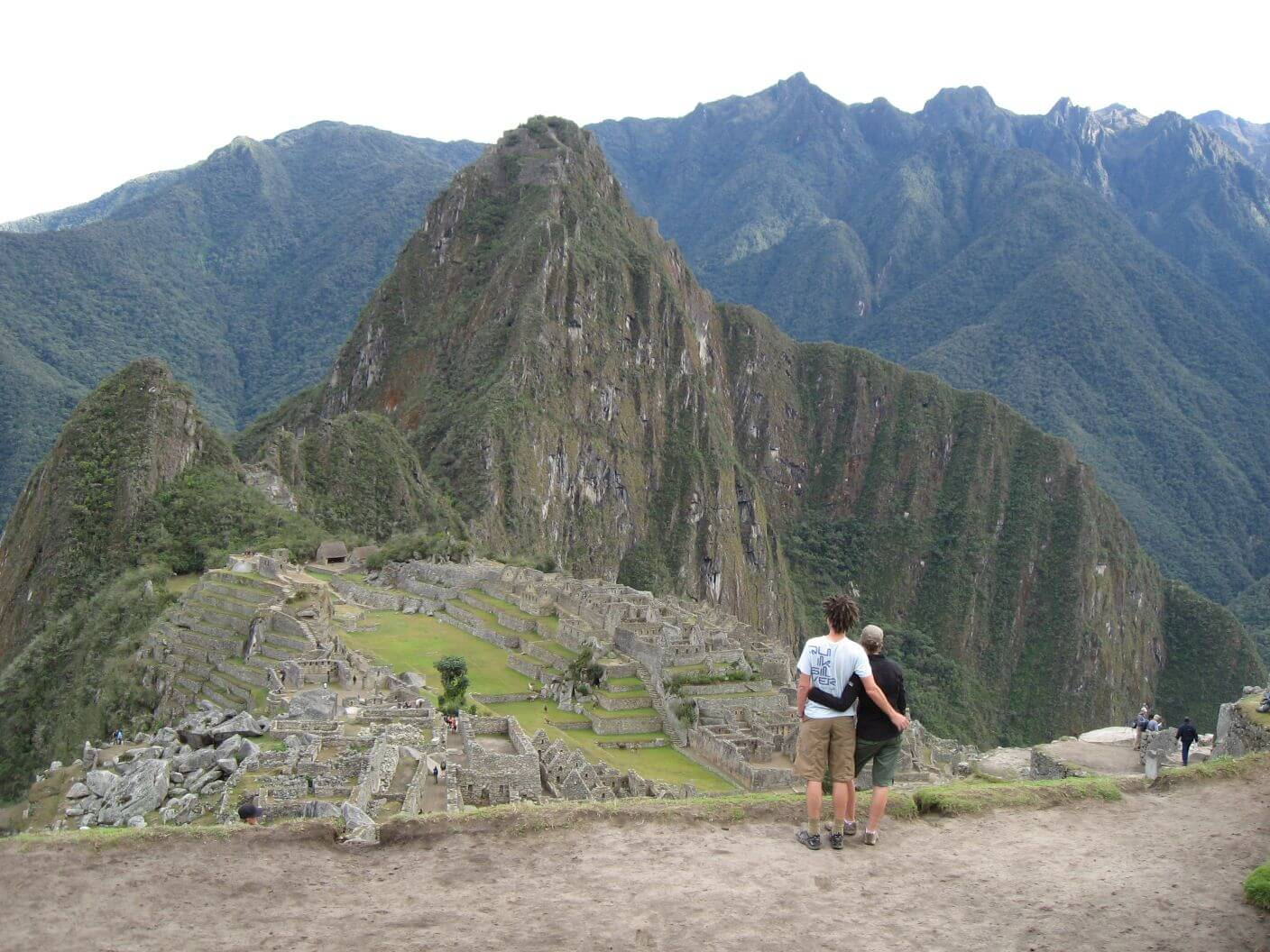 Such a special view - Ross and Amber looking down onto Machu Picchu