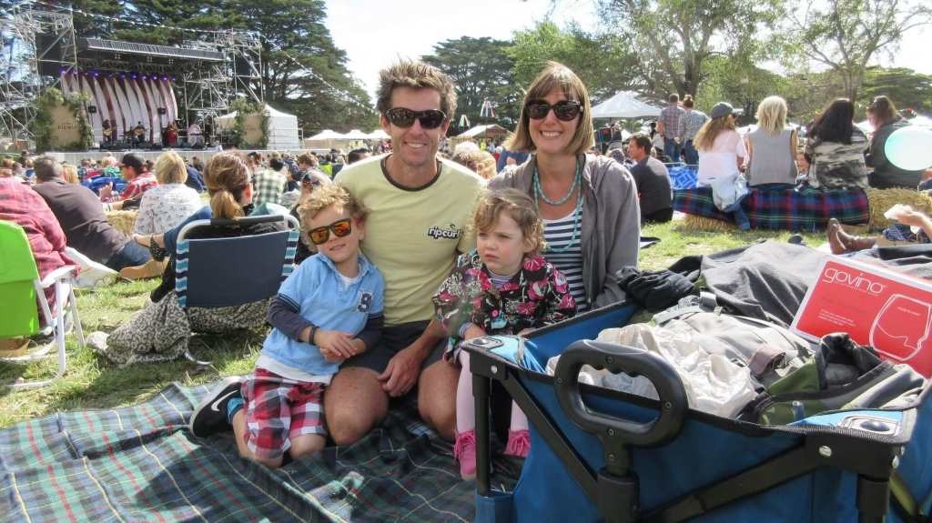 The Hill Family at the Peninsula Picnic 2017