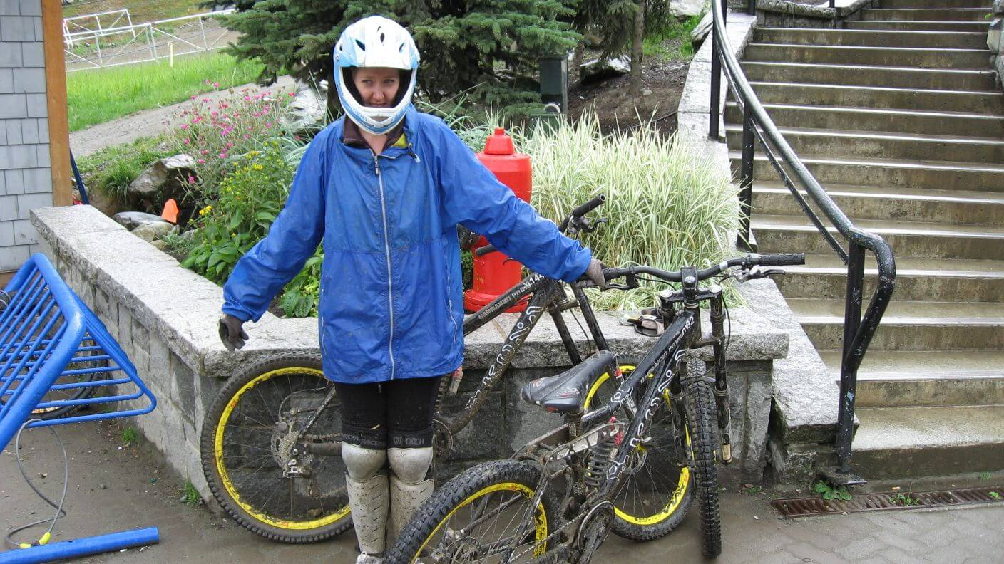 Amber mountain biking at Whistler