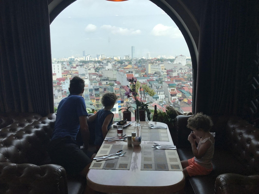 Breakfast with a view, Hotel Tirant, Hanoi