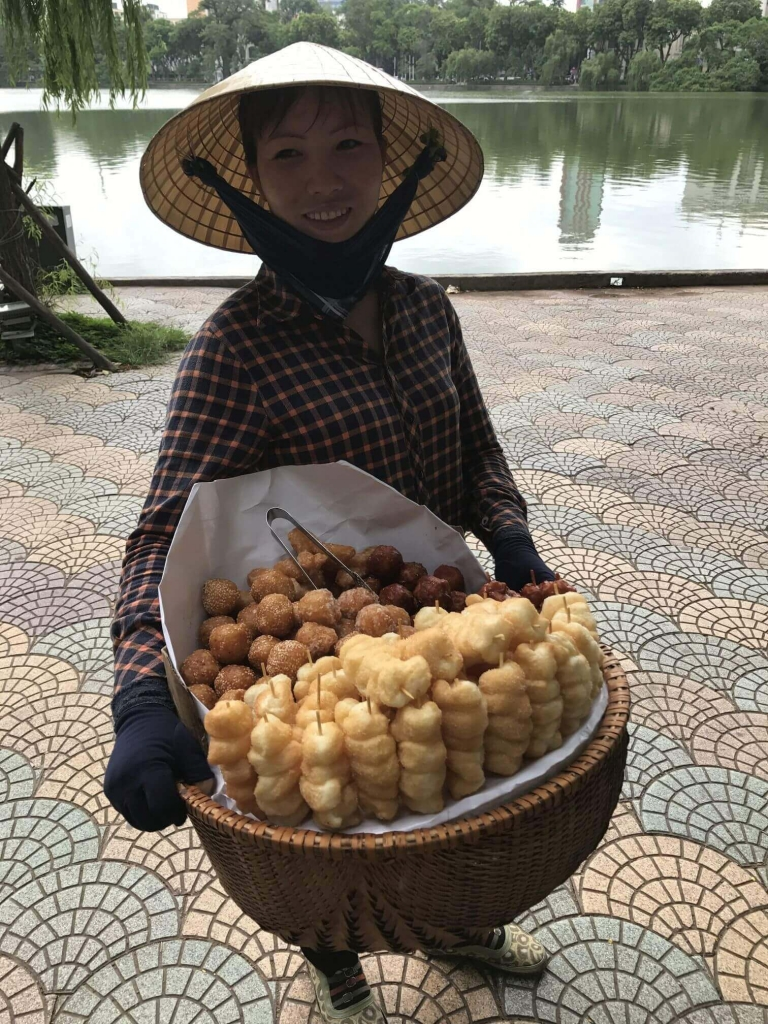 Doughnut ladies in Hanoi - they were so delicious