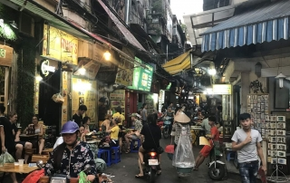 The tight narrow streets of the Old Quarter, Hanoi