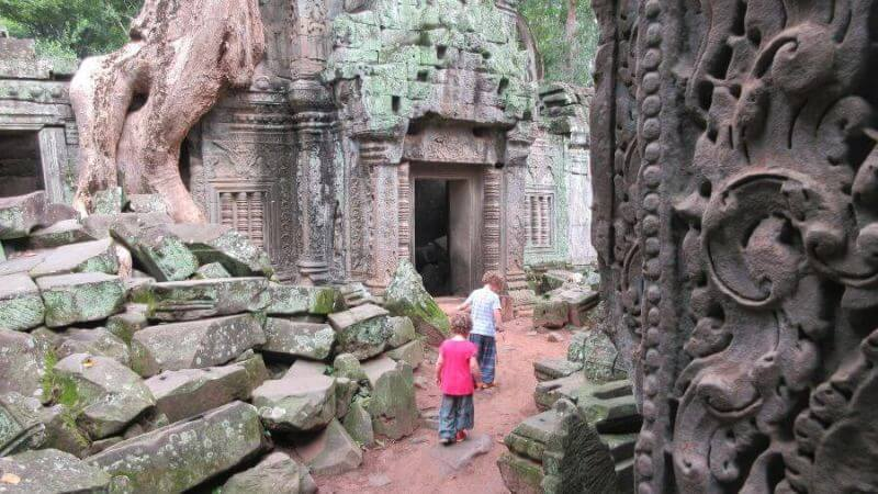 Where will the path lead at Ta Phrom?