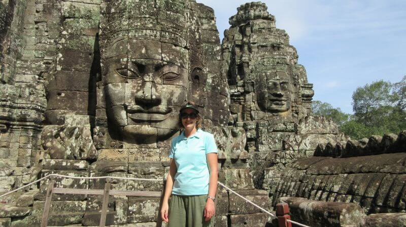 Amber, with the faces of Bayon, Angkor Thom