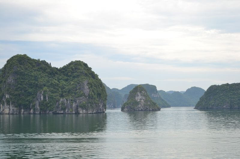 Hill Tribe Travels visiting Halong Bay with kids - the start of the magnificent scenery