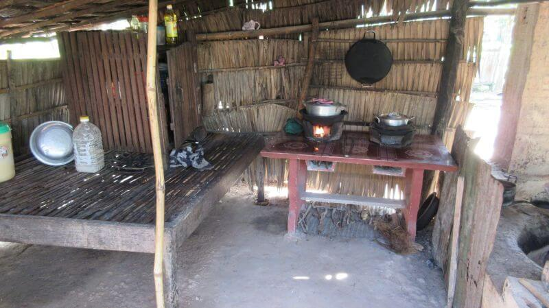 Outdoor kitchen - Hill Tribe Travels visited a local hour on their temple alternative tour in Siem Reap with Dani from Bees Unlimited