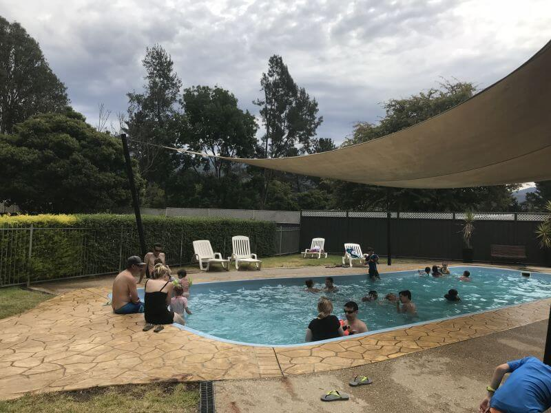 The pool within the campground at Porepunkah Bridge Holiday Park - Hill Tribe visited and enjoyed the pool