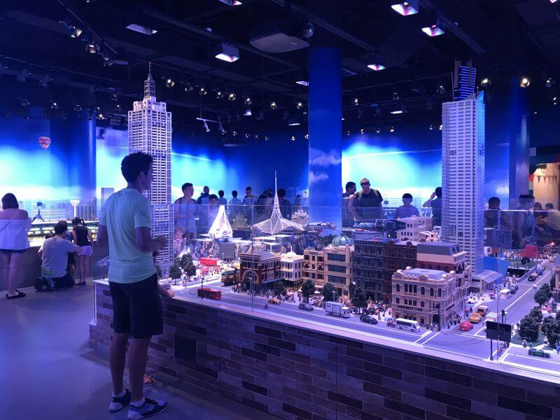 Ross from Hill Tribe Travels entering into Melbourne in the Miniland section of Legoland Discovery Centre