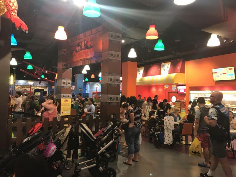The very crowded main hub of Legoland Discovery Centre - Hill Tribe Travels visited
