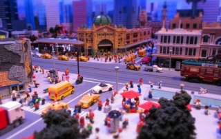Melbourne's Flinders Street Station made out of Lego at the Legoland Discovery Centre