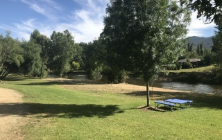 Hill Tribe Travels has put together a list of places they have been camping around Victoria. This is a picture of Porepunkah Bridge Camping Ground
