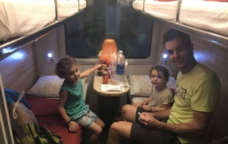 Hill Tribe Travels in the cabin of the Livitrans train travelling from Hanoi to Da'Nang