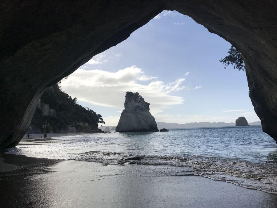 Cathedral Cove - looking through to the next beach. A little walk for Hill Tribe Travels but a wonderful spot to visit