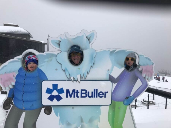 Hill Tribe Travels having fun at Mt Buller. Exploring Mt Buller with kids