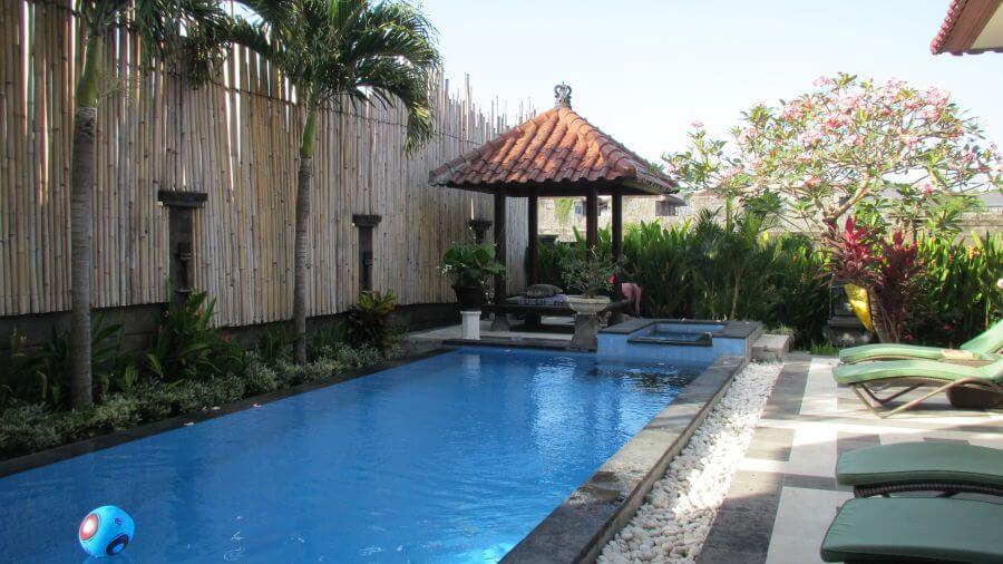 It really was a lovely pool, just not what I really wanted for our villa experience - Hill Tribe Travels in Bali