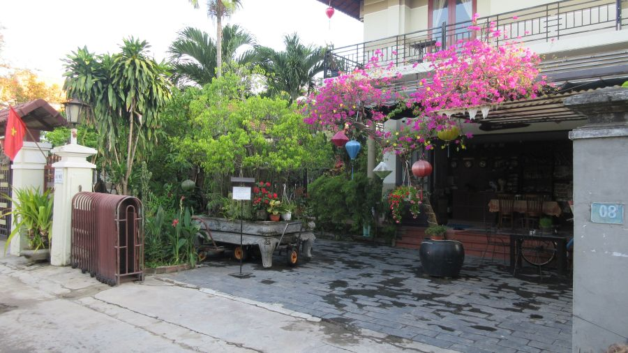 The entrance to the Botanic Garden Homestay. Hill Tribe travels stayed here in Hoi An and here is a review of the property