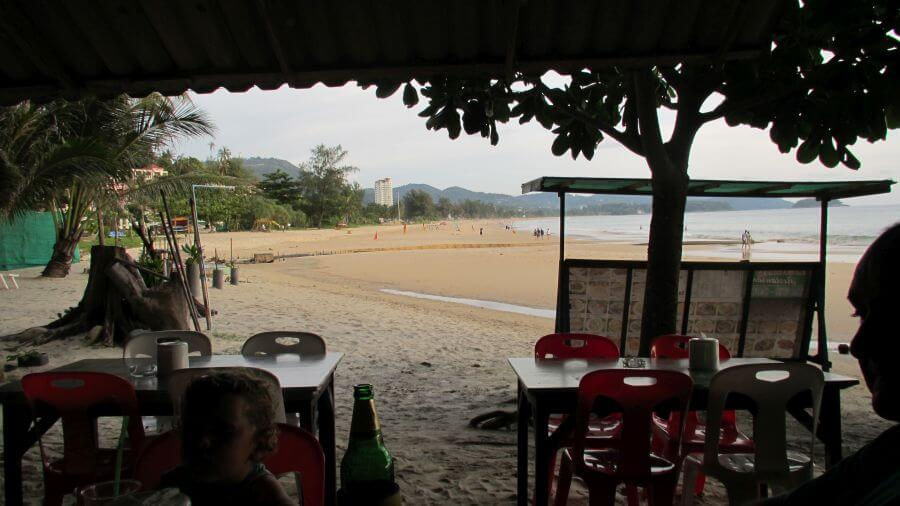 Hill Tribe Travels enjoyed eating on the sand just out the front of the Grand Centara Beach Resort in Thailand