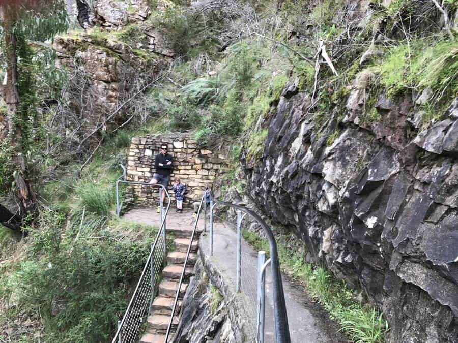Hill Tribe Travels at MacKenzie Falls. A great walk with kids in The Grampians.