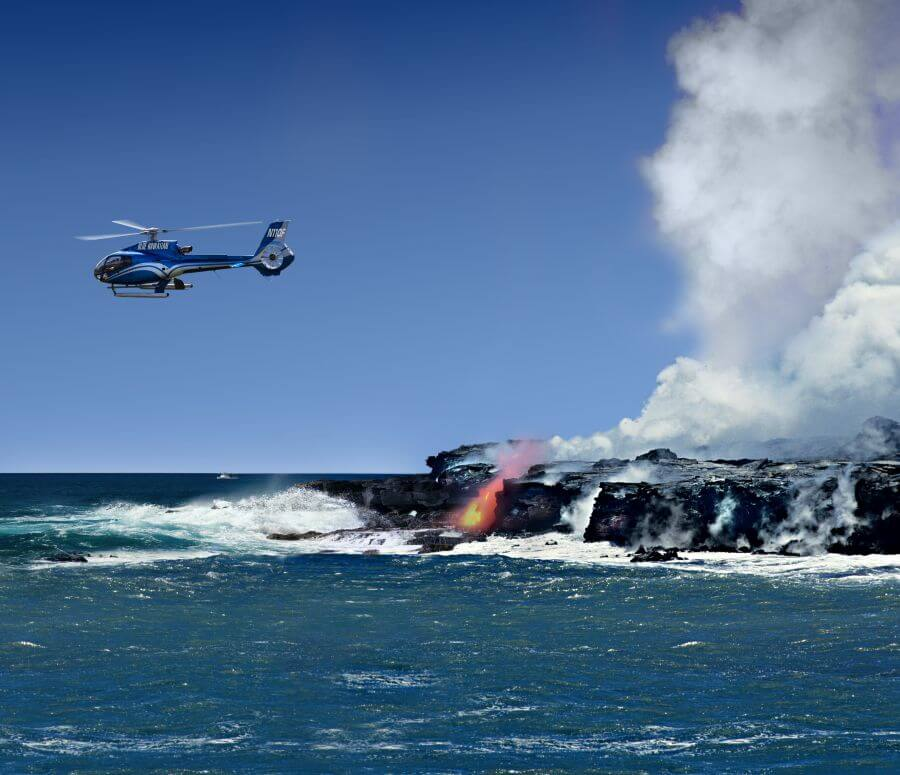 Blue Hawaiian Review. Hill Tribe Travels viewed lava with Blue Hawaiian Helicopters. One of the many things we explored on The Big Island with kids