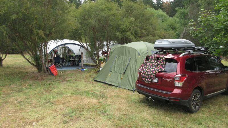 Another favourite place! HIll Tribe Travels set up at Porepunkah Bridge Holiday Park