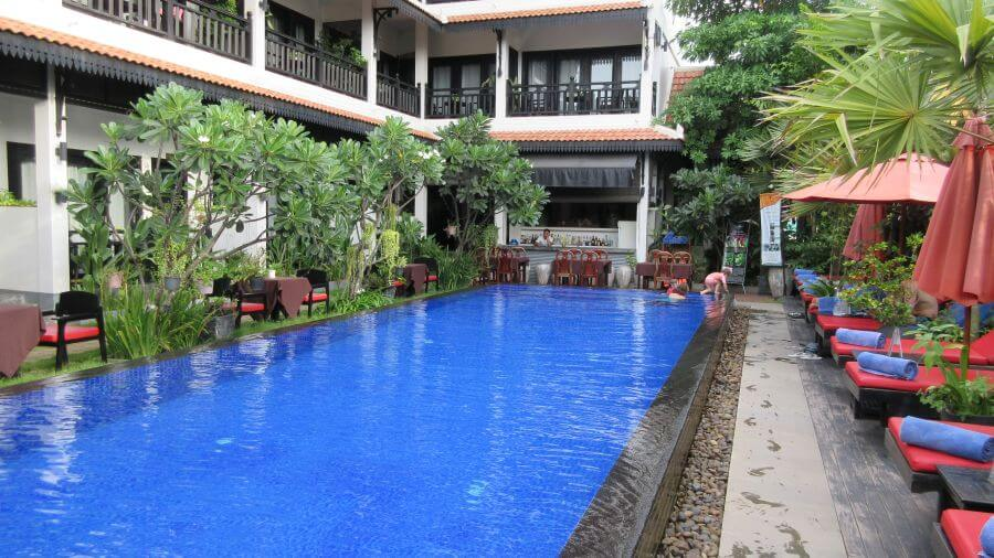 Review of the Khmer Mansion Boutique Hotel Review pool area