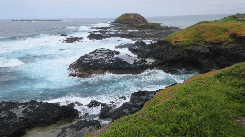 Stunning coastal views at The Nobbies. Hill Tribe Travels loves Phillip Island. There is lots to do in Phillip Island with kids, Stunning views at The Nobbies