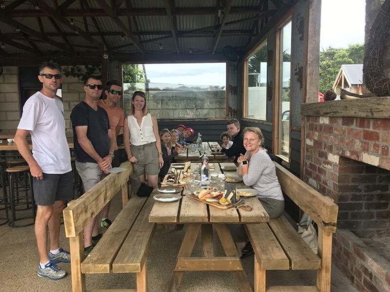 Awesome set up, food and company at Phillip Island Winery. Hill Tribe Travels loves to visit wineries and Phillip Island Winery is a fun thing to do in Phillip Island