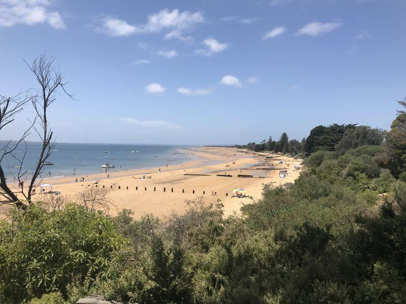 The beach at Cowes stretches on forever. A great place to hang out and explore and a great fun thing to do on Phillip Island with kids