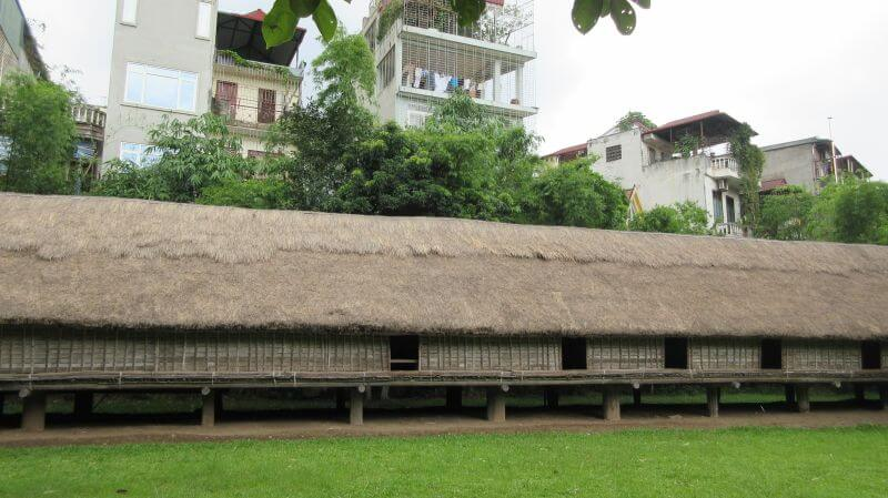 Part of The Long House at The Museum of Ethnology Hanoi