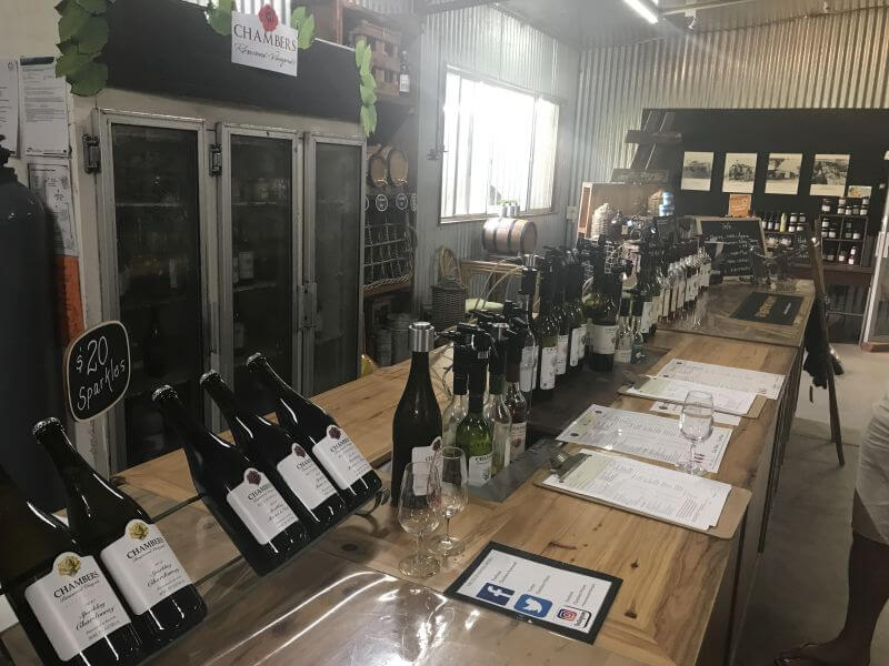 Chambers Winery, another one of Rutherglen family friendly winery. Here is the line up of the wines on tastings in the cellar door