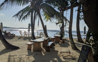 Out the door and straight onto the beach at Canopus Retreat on Thulusdhoo Island. A budget Maldives island. Family friendly Maldives. Local Maldives Island