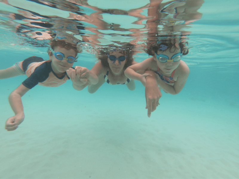 Hill Tribe Travels underwater in the Maldives. We visited Thulusdhoo , a local budget Maldives island. Snorkel Thulusdhoo straight off the beach