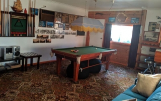 Games room at Cobden Crest Cottage