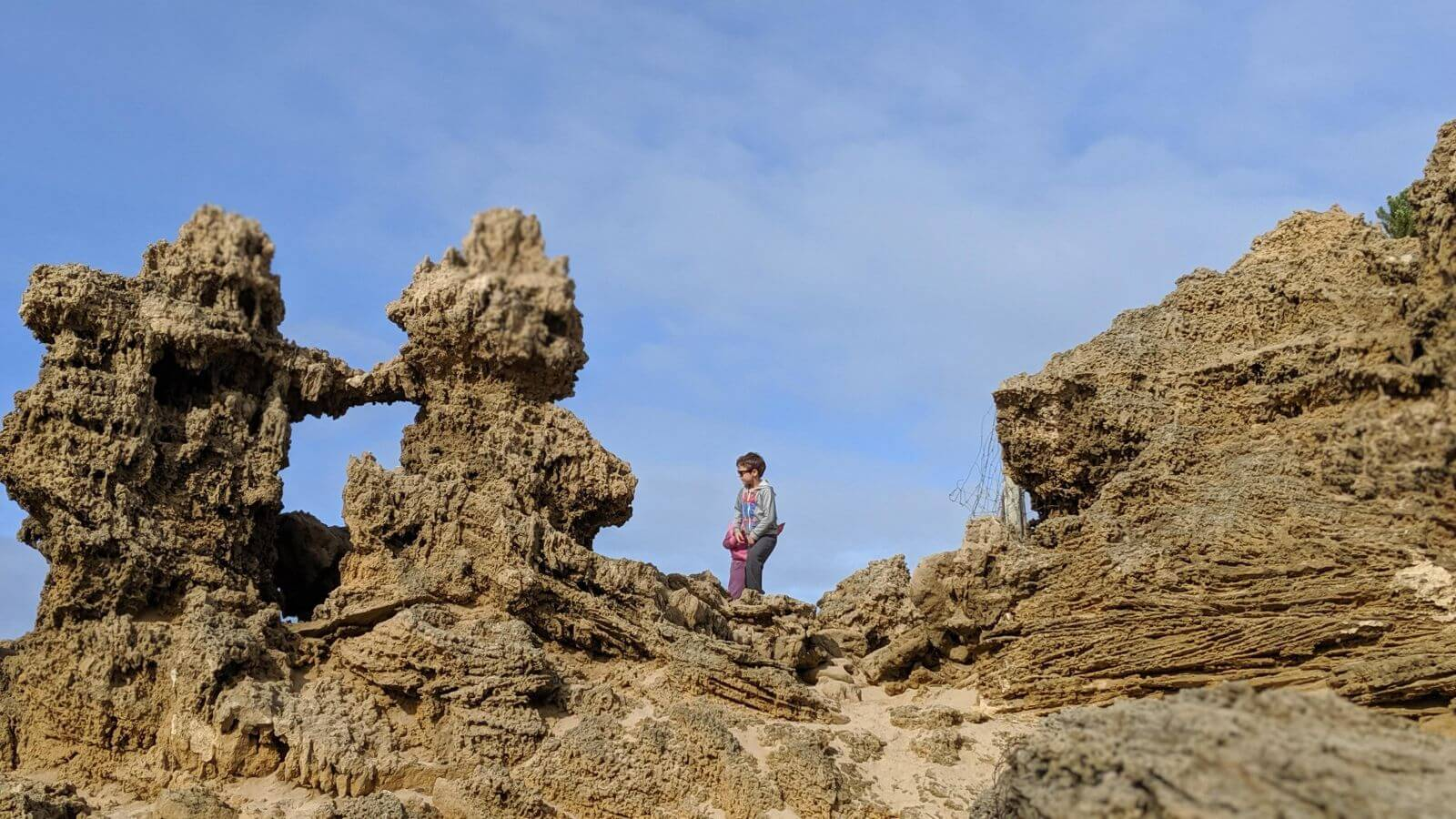 Awesome rock formations to explore at Anglesea Beach
