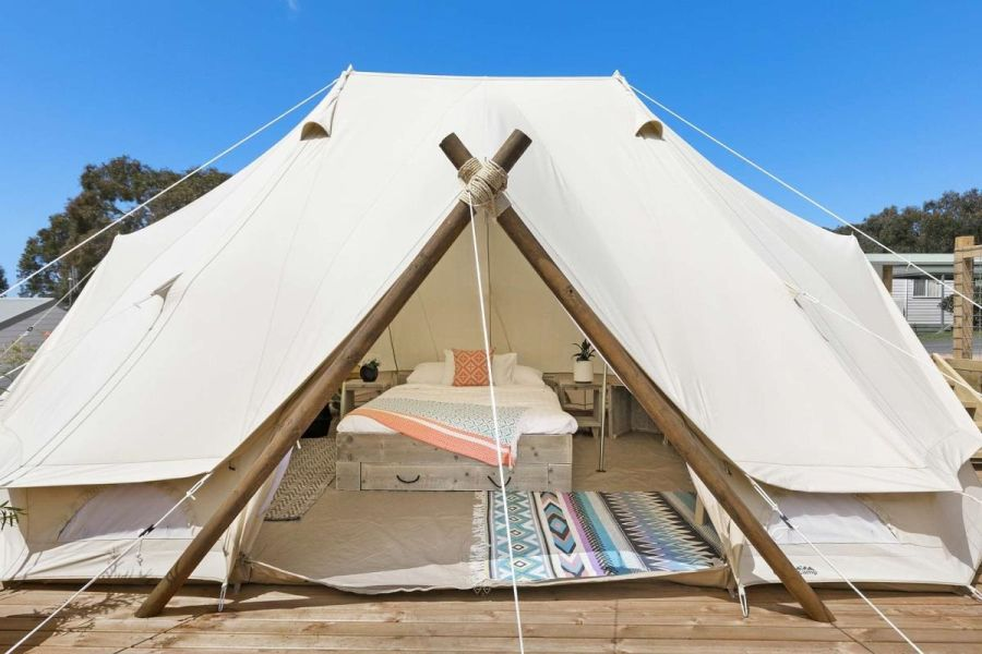 The Glamping Bell Tents at the Big4 Anglesea
