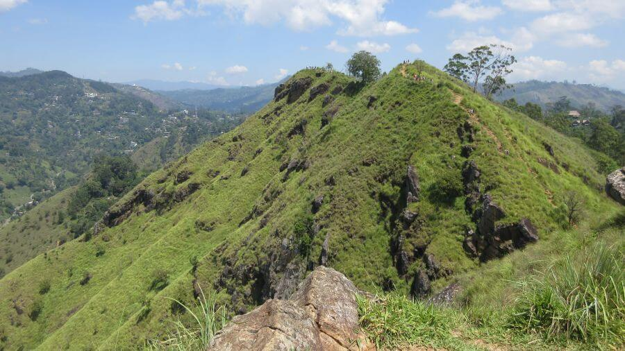 Magnificent views across the top of Little Adams Peak. A great family activity in Ella Sri Lanka with kids