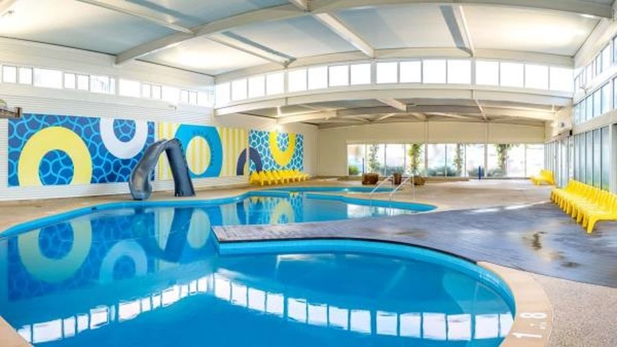 Anglesea Big4 Pool Facilities. Big4 Anglesea Caravan Park awesome pool facilities. Heated indoor pool, waterslide and waterfall