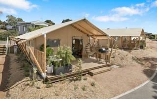 Safari Tents. Glamping. Anglesea Big 4. Big 4 Anglesea. Hill Tribe Travels