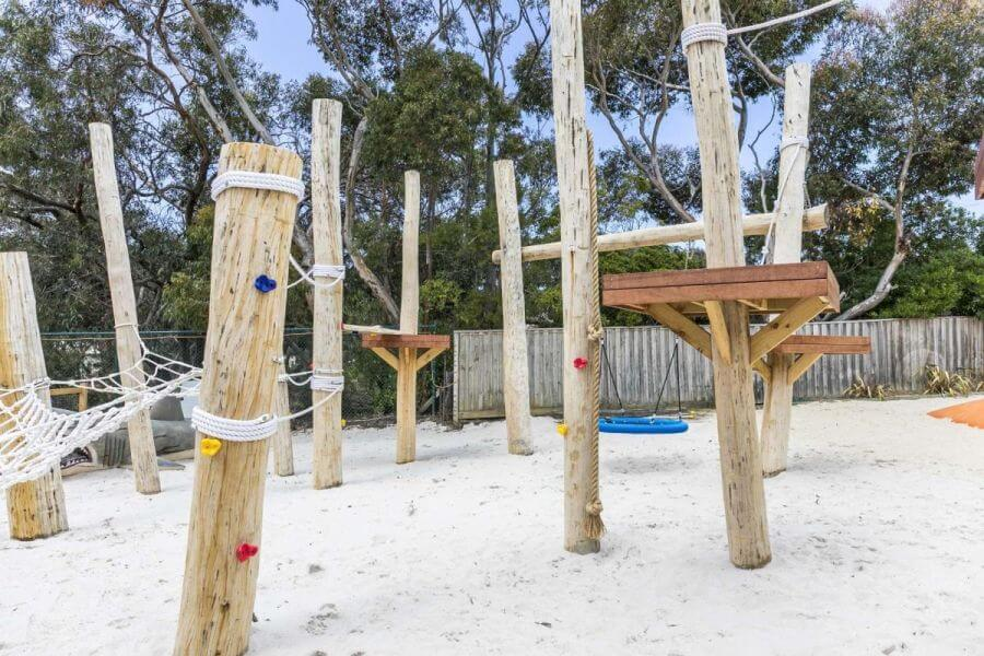 Part of the adventure playground at the Anglesea Big 4