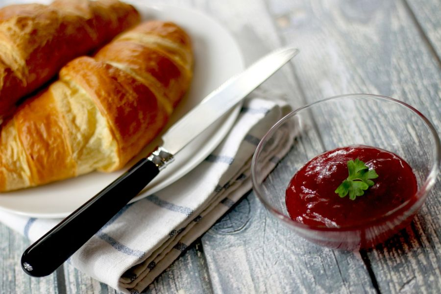 Croissants and jam are always a popular breakfast/brunch choice for us
