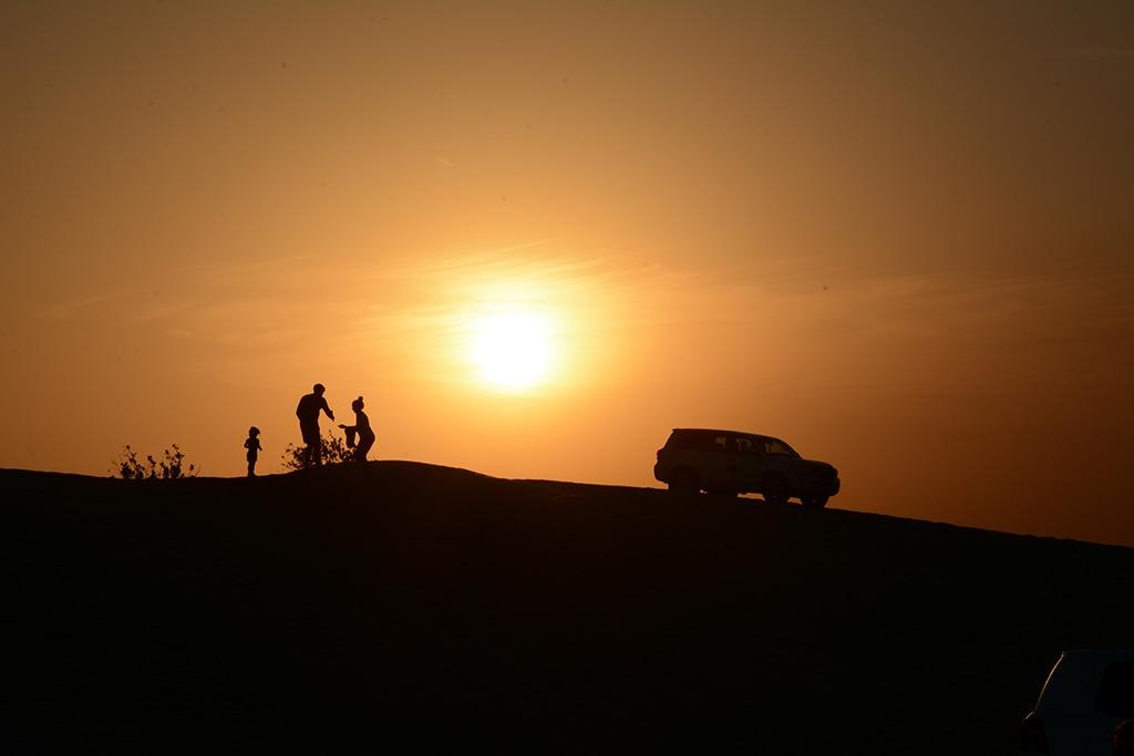 Sunset in Desert Dubai