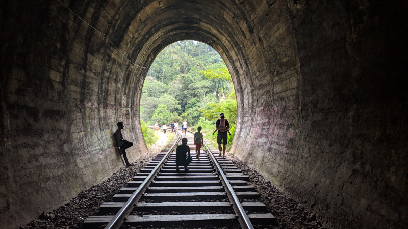 Hill Tribe Travels Sri Lanka Family adventure Sri LAnka with kids This photo is the tunnel at Nine Arches Bridge