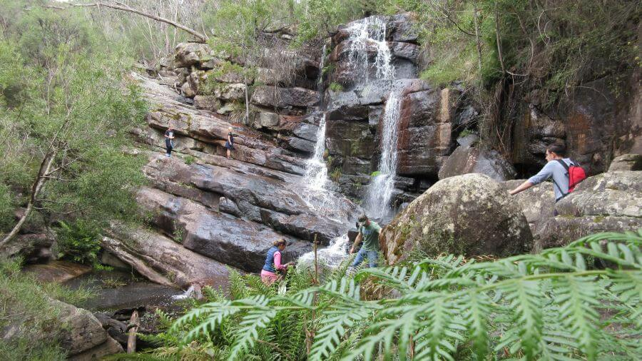 Time for even more climbing. On the way up to The Pinnacle. One of the best walks for kids in the Grampians