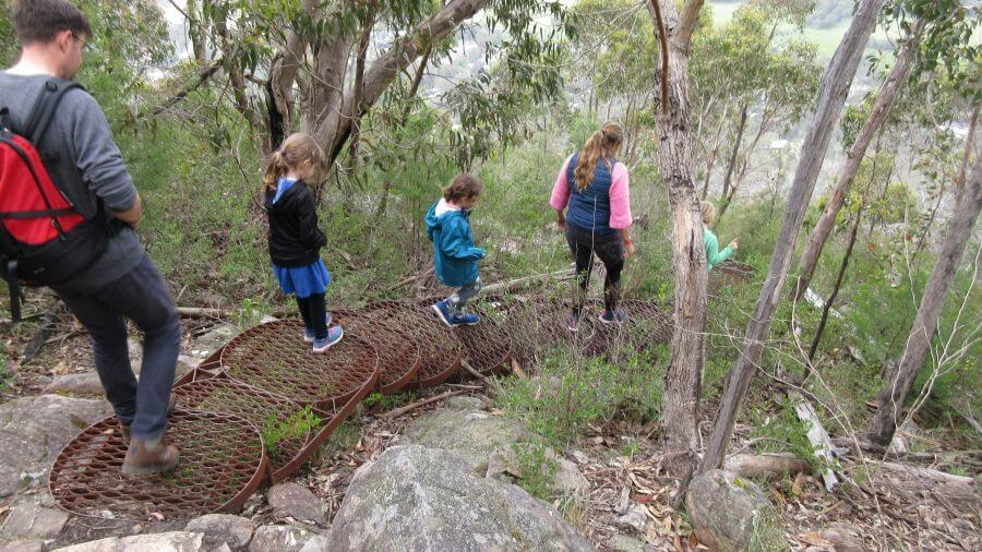 An example of what going down looked like. It would have been a challenge going up this way. Lots of steps. One of the best walks for kids in the Grampians