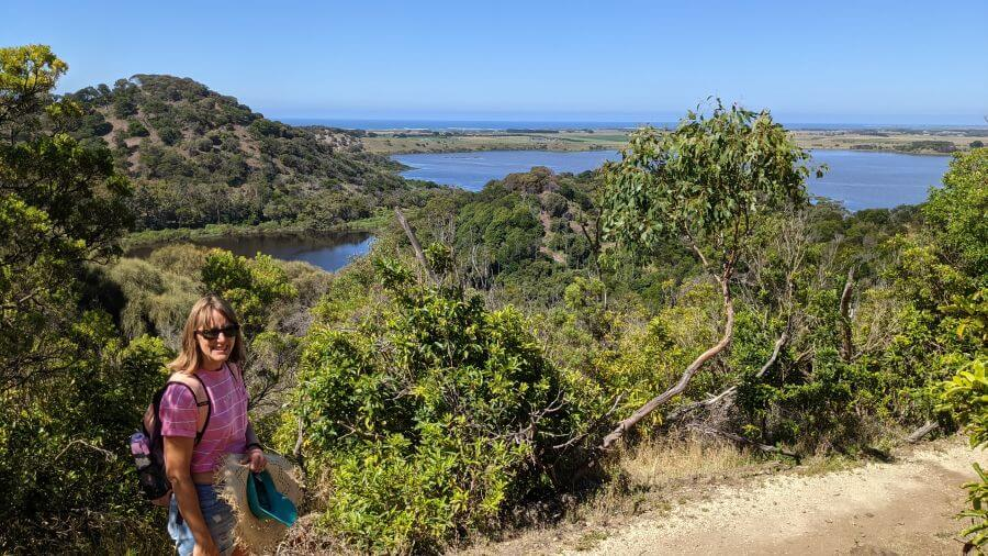 One of the viewpoints at Tower Hill Wildlife Reserve a great thing to do with kids in Port Fairy