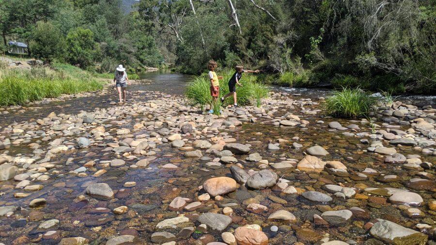 HIll Tribe Travels. Jamieson Caravan Park. Granny's Flat Camping area. River access at Granny's Flat